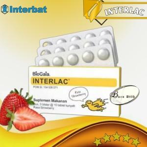 Harga interlac probiotic tablet isi 30 tablet rasa strawbery   | HARGALOKA.COM