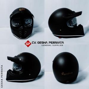 Harga helm cakil jp signature solid hitam doff helm full face   sni promo | HARGALOKA.COM