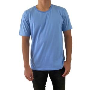 Harga kaos polos pria cotton carded regular fit kaos oblong biru | HARGALOKA.COM