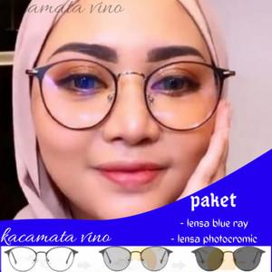 Harga kacamata anti radiasi wanita photocromic   hitam rose gold | HARGALOKA.COM