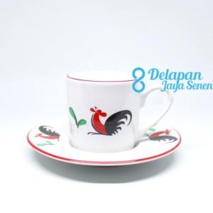 Harga cangkir espresso ayam jago isi 6pcs cangkir shot espresso | HARGALOKA.COM