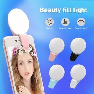 Harga a2 mini q selfie ring light portable flash led usb clip mobile phone   merah   HARGALOKA.COM