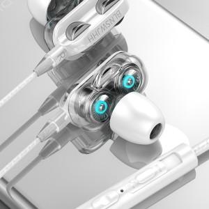 Harga earphone terbaik stereo subwoofer dual speaker dual bass   | HARGALOKA.COM