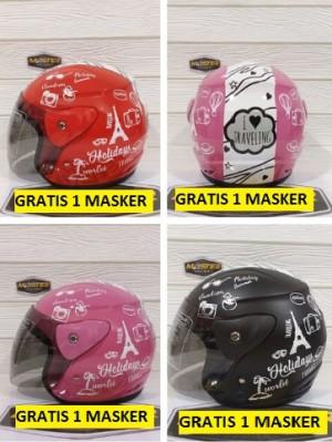 Harga helm half face evolution mirip gm evo helm murah helm dewasa   hitam | HARGALOKA.COM
