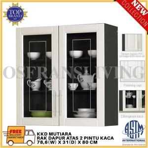 Harga olympic rak dapur atas dua pintu kaca kkd mutiara harga | HARGALOKA.COM