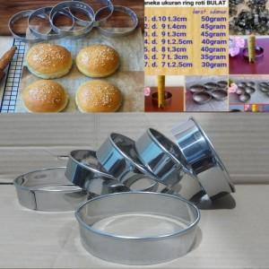 Harga loyang roti burger ring cutter bulat 10x3 cm cetakan kue isi 6 | HARGALOKA.COM