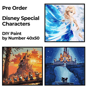 Harga paint by number lukisan diy kanvas 40x50cm disney special characters   | HARGALOKA.COM