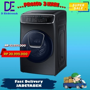 Harga promo mesin cuci samsung front loading wr24m9960kv 21 kg with | HARGALOKA.COM
