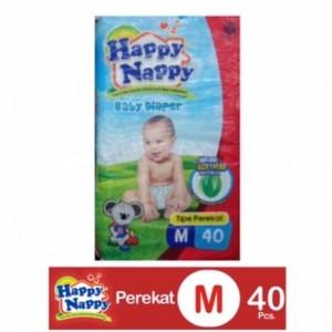 Harga happy nappy diaper m 40 popok bayi perekat size m murah   HARGALOKA.COM