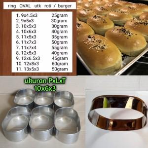 Harga loyang roti bakso ring cutter oval stainless 10 x 6 x 3 isi 6 | HARGALOKA.COM