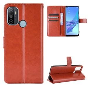 Harga flip case leather cover oppo a33 2020 model dompet bahan kulit   | HARGALOKA.COM