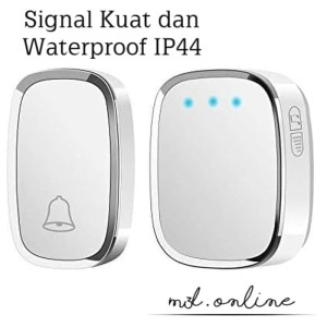 Harga bel rumah wireless door bell waterproof   HARGALOKA.COM
