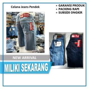 Harga celana jeans pendek pria celana jins katok pendek pria model | HARGALOKA.COM