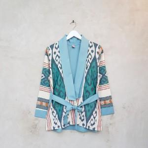 Harga cardigan tenun lucu dan unik a0485 biru   all size   HARGALOKA.COM