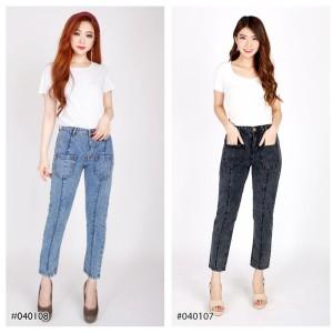 Harga celana boyfriend sabrina snow jeans wanita modis trendy fashionable   27 snow | HARGALOKA.COM
