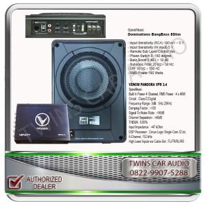 Harga paket audio mobil prosesor venom subwoofer aktif dominations | HARGALOKA.COM
