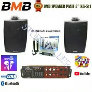 Harga paket karaoke speaker bmb kg 511   ampli mixer   mic wireless | HARGALOKA.COM