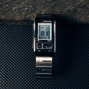 Harga fortuner jam tangan wanita digital silver hitam water resistant | HARGALOKA.COM