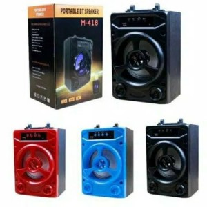 Harga speaker bluetooth m408 m418 speaker portable music box lampu led   | HARGALOKA.COM