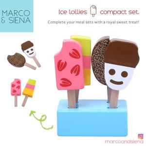 Harga mainan es krim masak masakan kayu mns wooden ice creams ice | HARGALOKA.COM