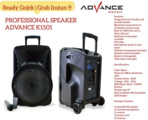 Harga jual speaker aktif advance 15 inch tipe k 1501 k1501 | HARGALOKA.COM