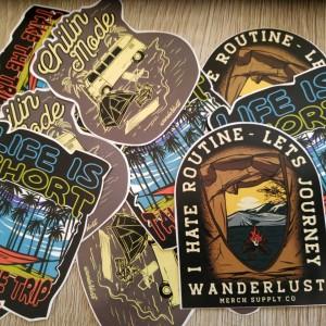 Harga wanderlust   sticker pack   3 pcs | HARGALOKA.COM