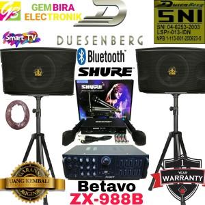 Harga paket karaoke speaker dusenberg 10 inch bluetooth mixer betavo | HARGALOKA.COM