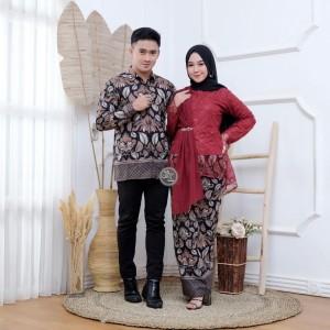 Harga batik kebaya couple keluarga modern baju kondangan lamaran tunangan   | HARGALOKA.COM