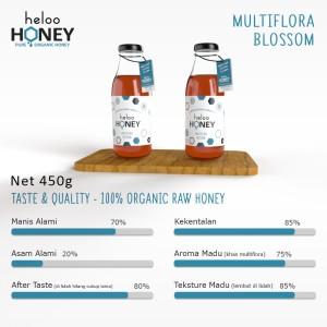 Harga madu asli heloo honey 450gr multi flora 100 pure natural honey   multiflora | HARGALOKA.COM