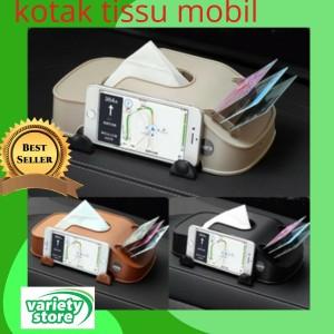 Harga kotak tempat tissue mobil dashboard holder hp kartu e toll tol   | HARGALOKA.COM