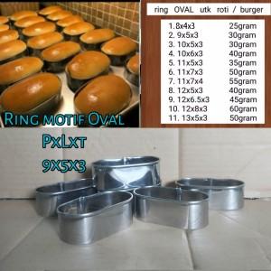 Harga ring cetakan kue ring oval 9x5x3cm ring cutter cetakan roti isi 6 | HARGALOKA.COM