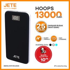 Harga powerbank jete hoops 13000 mah real capacity garansi resmi 1 tahun   | HARGALOKA.COM
