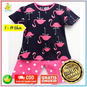 Harga baju kaos setelan anak balita wanita perempuan flaminggo 1 10 thn   size   HARGALOKA.COM