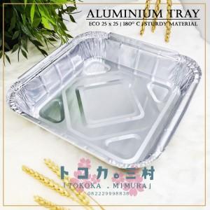 Harga ekonomis aluminium foil tray 25 x 25 cm   wadah alumunium | HARGALOKA.COM