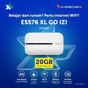 Harga modem mifi wifi 4g huawei e5576 unlock all operator free 20gb   | HARGALOKA.COM
