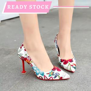 Harga high heels import korea kode cb 57   putih   HARGALOKA.COM