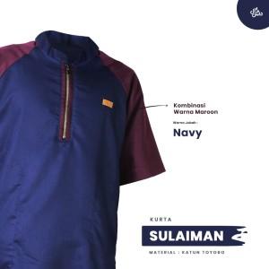 Harga baju koko kemko sulaiman qomishu   navy | HARGALOKA.COM