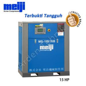 Harga meiji screw compressor kompresor angin meiji ms 110 | HARGALOKA.COM