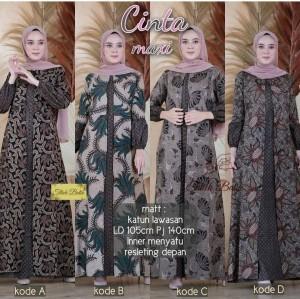 Harga gamis batik wanita baju atasan syari dress muslim panjang modern   gamis kode a | HARGALOKA.COM