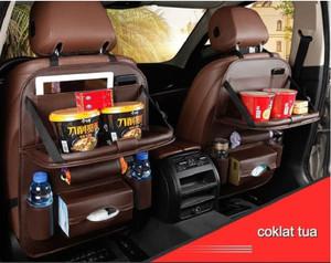 Harga Godric Leather Premium Meja Foldable Auto Car Organizer Tas Jok Kulit Katalog.or.id