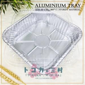 Harga ekonomis aluminium foil tray 20 x 20 cm   wadah alumunium makanan   tray dan | HARGALOKA.COM