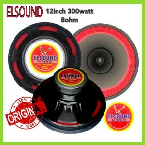 Harga speaker elsound 12 inch full range hitam dan merah | HARGALOKA.COM