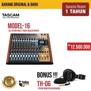 Harga tascam model 16   16 channel analog mixer multitrack | HARGALOKA.COM