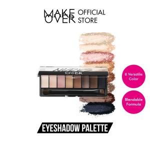 Harga make over eye shadow palette nudes   | HARGALOKA.COM