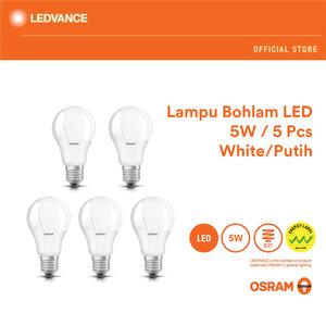 Harga osram lampu bohlam led 5 watt 5 pcs   | HARGALOKA.COM