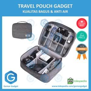 Harga travel pouch gadget organizer tas kabel charger usb powerbank murah     HARGALOKA.COM