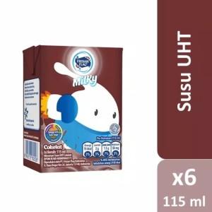 Harga susu frisian flag milky 115 ml cokelat isi 6 | HARGALOKA.COM