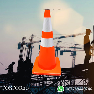 Harga Khusus Gojek Instant Courier Traffic Cone Dasar Orange 70 Cm Premium Katalog.or.id