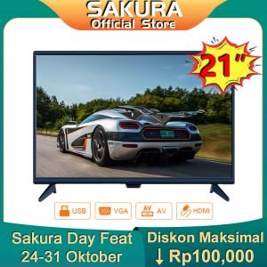 Harga sakura tv 21 inch hd ready led televisi tclg s21a | HARGALOKA.COM