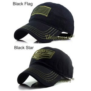 Harga army flag or star topi baseball hat cap casual sport distro classic   black | HARGALOKA.COM